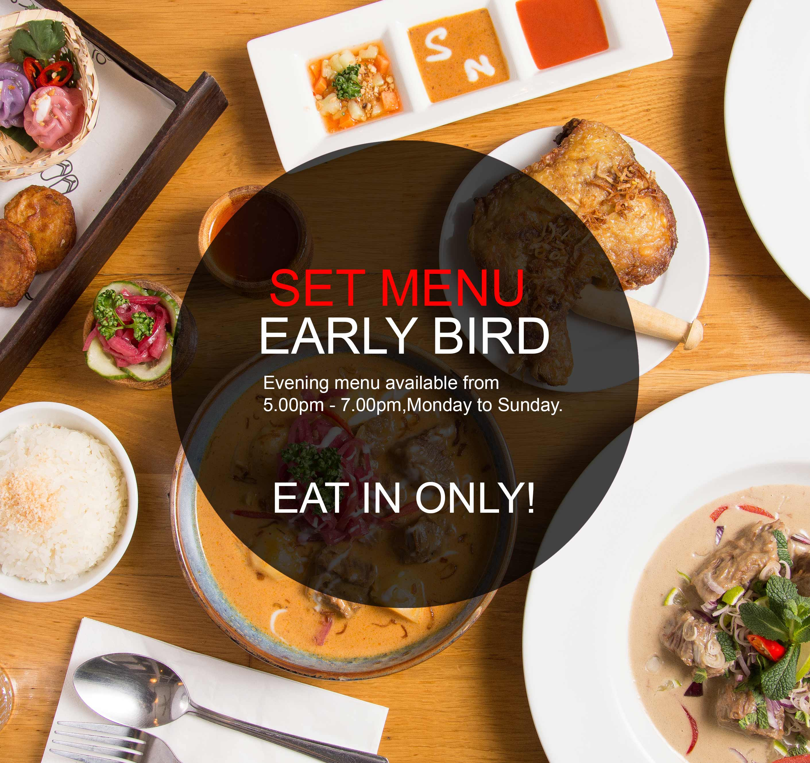 SET MENU EARLY BIRD
